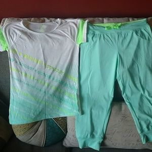 Girls sz 12 SO brand soccer themed outfit